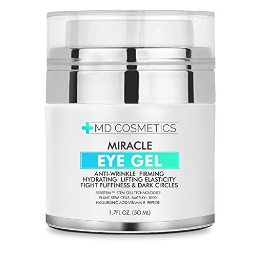 MD Cosmetics Eye Gel for Dark Circles, Puffiness, Wrinkles and Bags. - The Most Effective Anti-Aging Eye Gel for Under and Around Eyes - 1.7 fl oz
