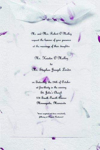 Gartner Studios Petals Hand-Made Paper Wedding Invitation Kit, Pink, 10-Count (61034) 10 Ct Invitation Kit