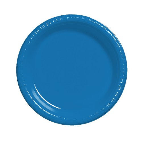 (Creative Converting Touch of Color 20 Count Plastic Dinner Plates, True Blue)