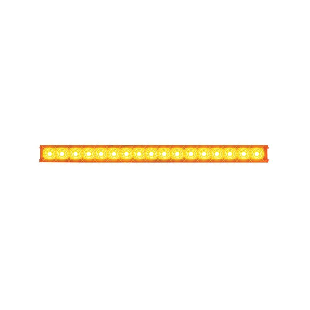 Grand General 76980 Amber 20'' Single Row Spyder 17-LED Park/Turn/Clearance Sealed Light Bar