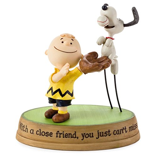 Peanuts Snoopy Baseball (Hallmark Peanuts Charlie Brown and Snoopy Playing Catch Figurine)