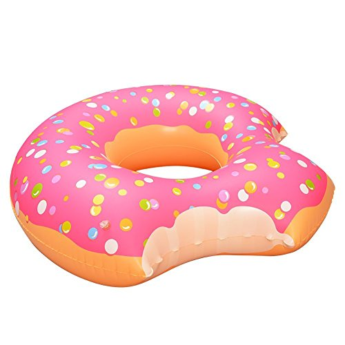 Swimming Pool Floats Inflatable Donut with Two-Bite for All Ages Swim Ring by Mounchain