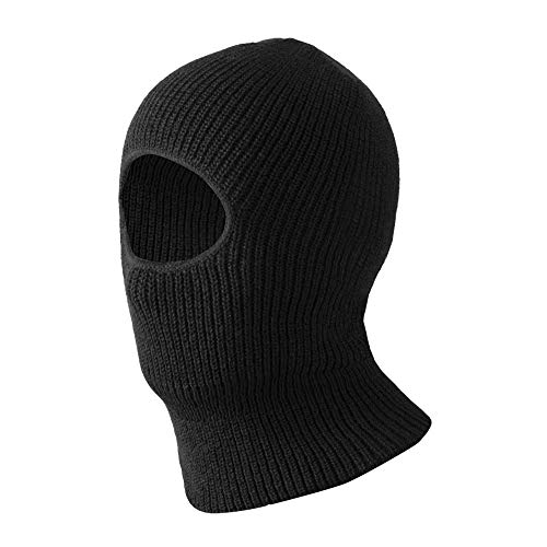 Evridwear Thermal Double Layer Acrylic Knit One Hole Balaclava, Winter Ski Neck Face Protection Mask, One Size (Double Layer Acrylic Knit)