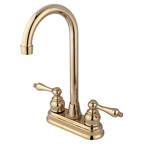 Lowest Price! Kingston Brass KB492AL Victorian High-Arch Bar Faucet, 4-3/4-Inch, Polished Brass