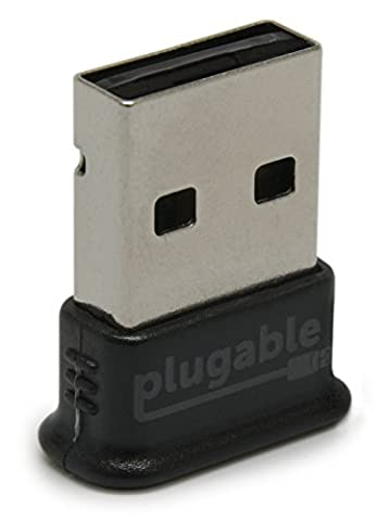 Plugable USB Bluetooth 4.0 Low Energy Micro Adapter (Windows 10, 8.1, 8, 7, Raspberry Pi, Linux Compatible; Classic Bluetooth, and Stereo Headset (Window Ultimate 7)