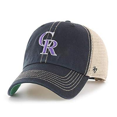 '47 Colorado Rockies Trawler Clean Up Adjustable Hat Cap, Snapback Black