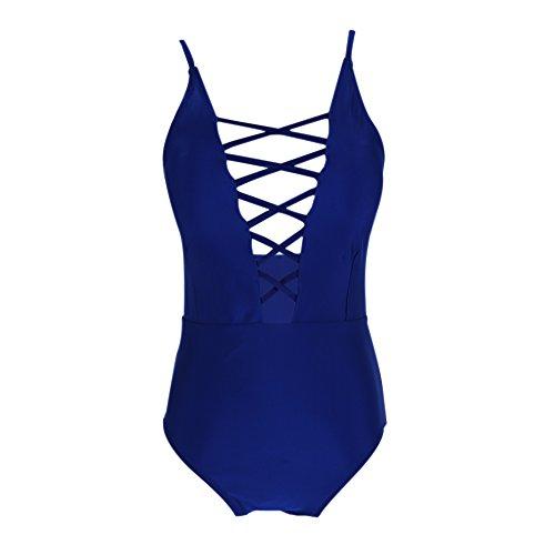 ESHOO - Traje de una pieza - para mujer Azul