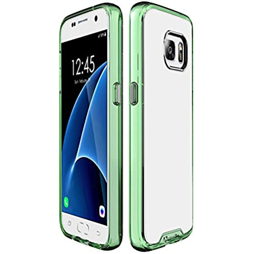 Qmadix Galaxy S7 Case, C Series Ultra-Thin Clear Premium Co-Molded TPU Case for Samsung Galaxy S7 (Green) Sales