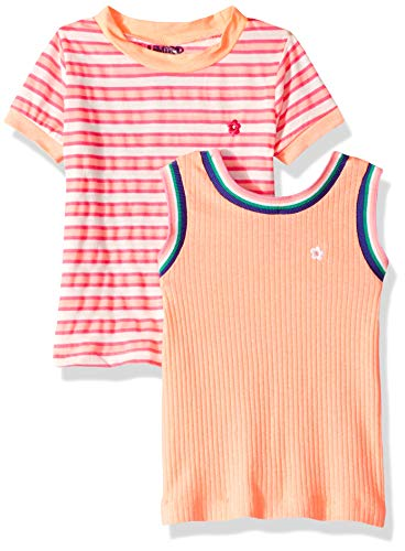 Top Too Limited Shirt - Limited Too Girls' Toddler Short Sleeve T-Shirt and Tank Top Set, Light Coral Multi 3T