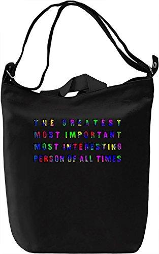 The Greatest Person Borsa Giornaliera Canvas Canvas Day Bag| 100% Premium Cotton Canvas| DTG Printing|