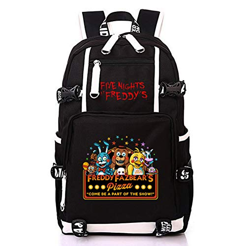 HPY Cosplay Five Nights at Freddy's Backpack School Bag Travel Bag Pc Bag Resident College Bag men's ladies' bag,A -
