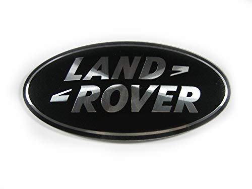 Oval Round Black Rear Boot Badge Emblem For Evoque Discovery Freelander