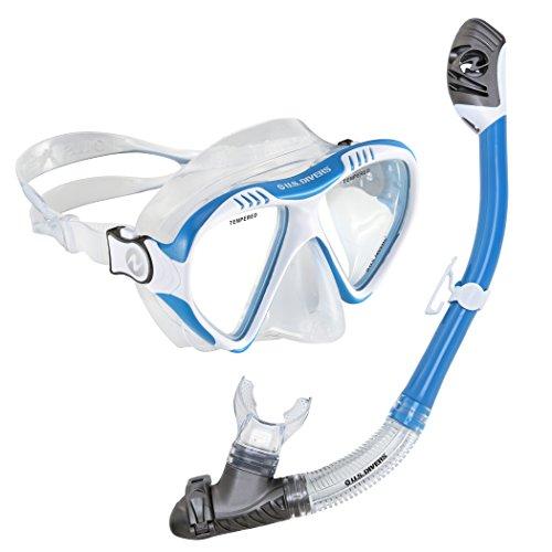 U.S. Divers Adult Magellan Purge LX Mask/Tucson LX Snorkel, Cobalt Blue