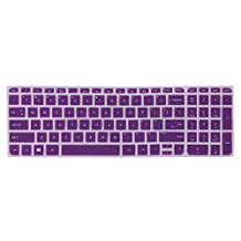 """Silicone Keyboard Protector for 15.6-Inch HP 15-p*** 15-r*** 15-u*** 15-n***, HP ENVY 17-j*** 17t-j*** 17-e*** 17t-n*** series 15.6"""" Laptop US Layout (Purple). DOES NOTFIT HP ENVY X360 m6-w***!!!"""