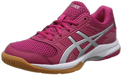 rouge Blanc silver Volleyball Red Gel 2193 Chaussures 8 De Asics rocket Femme white fwT0q1czFx