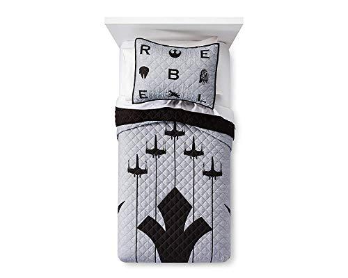 Star Wars Emblem Quilt Set (Twin) (Star Wars Rebel Bedding)