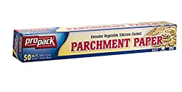 Propack Non Stick Parchment Baking Paper 12 x 50 Pack Of 4