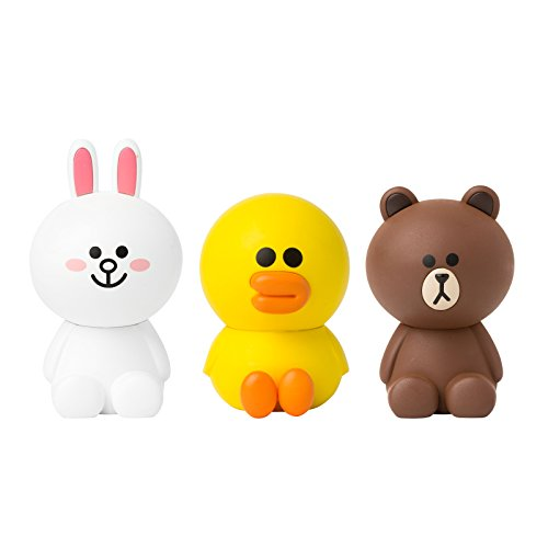 LINE FRIENDS Car Air Freshener Three Pieces Set One Size Multicolored