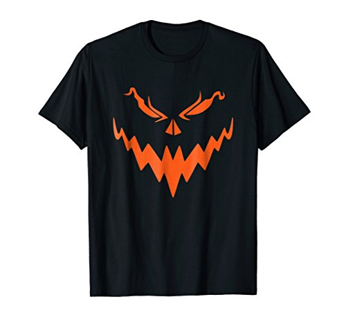 Halloween Pumpkin Face Scary Pumpkin Creepy Halloween Tshirt -