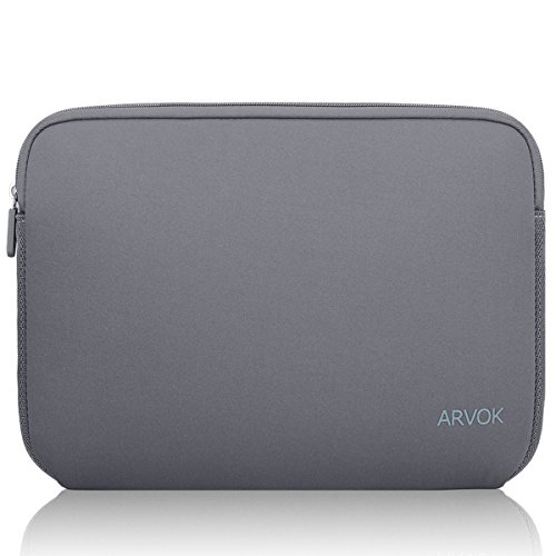 Arvok 15-15.6 Inch Laptop Sleeve Multi-Color & Size Choices Case Water-Resistant Neoprene Notebook Computer Pocket Tablet Briefcase Carrying Bag Pouch Skin Cover for Acer Asus Dell Lenovo - Grey