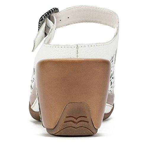 Leather WHITE Women's White MOUNTAIN 'Miso' Mule wxCn0YBtq4