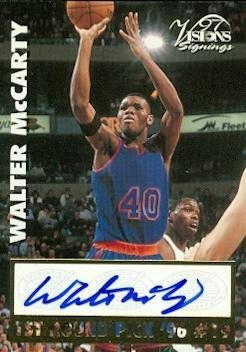 - Walter McCarty autographed Basketball Card (New York Knicks) 1997 Score Board Visions Signings - Autographed Basketball Cards