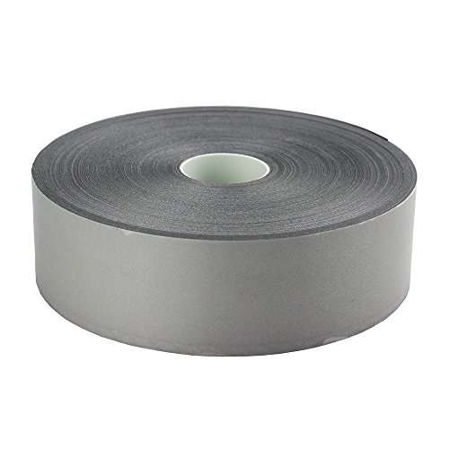Silver Reflective Iron On Tape Heat Transfer Vinyl Film Wide 50mm (2) (2 x 33ft)