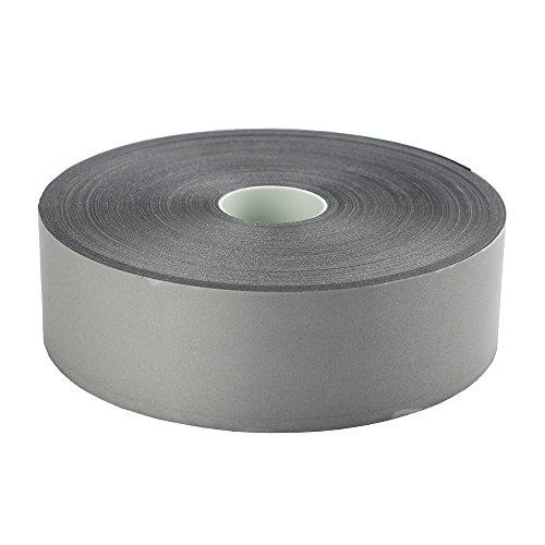 Silver Reflective Iron On Tape Heat Transfer Vinyl Film Wide 50mm (2) (2 x 164ft)