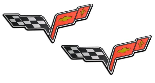 corvette flag emblem - 2
