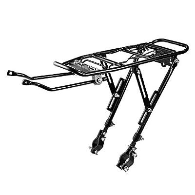 Universal Adjustable Bicycle Carrier Rack Bike Rear Rack Cycling Luggage Cargo Mount Racks Shelf Bracket, Black