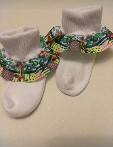 (Zootopia Ruffle Socks, Baby ruffle socks, infant ruffle socks, birthday ruffle socks, Character socks, Toy Story socks, Animal ruffle socks, animal hair bows)