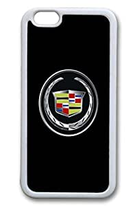 iPhone 6 plus Case, 6 plus Case - Scratch Resistant Soft Rubber Case Bumper for iPhone 6 Cadillac Car Logo 1 Slim Fit White Rubber Soft Case for iPhone 6 4.7 Inches by Maris's Diaryby Maris's Diary