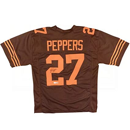 huge selection of d2f0b a4ebe Jabrill Peppers Autographed Signed Auto Cleveland Browns ...