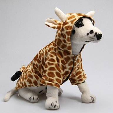 USXY Funny Cute 3D Giraffe Pattern Hoody Suit for Dogs (XS-XL)