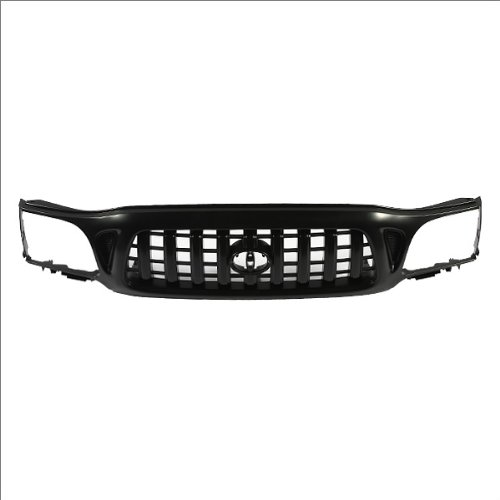 2002 Toyota Tacoma Grille - CarPartsDepot, Front Grill Grille Body Part Matte Black Plastic Paintable, 400-44220 TO1200250 5310004250C0