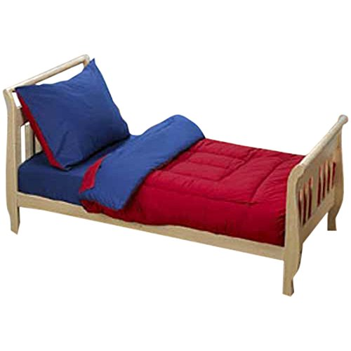 Solid Color Toddler Bedding, Red and Blue