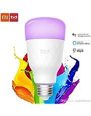 Xiaomi Mi Yeelight Wireless Smart Color LED E27 Light Bulb 2019 Upgraded 10W 800LM RGB + W -, 1 Year Warranty