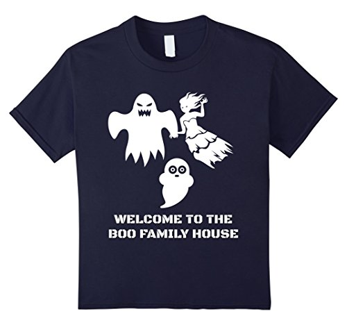 Top 10 Scariest Costumes (Kids Family Cute Scary Halloween costumes boo ghost T-shirt 10 Navy)