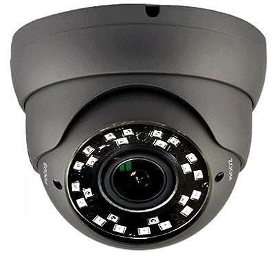 101AV Security Dome Camera 1080P True Full-HD 4 IN 1(TVI, AHD, CVI, CVBS) 2.8-12mm Variable Focus Lens SONY 2.4Megapixel STARVIS Image Sensor IR In/Outdoor WDR OSD Camera (Charcoal)