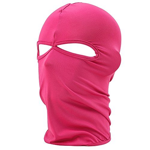 FENTI Lycra Sport Balaclava with Eye Hollow, Motorcycle Ski Cycling Face Mask , Hot Pink , One Size