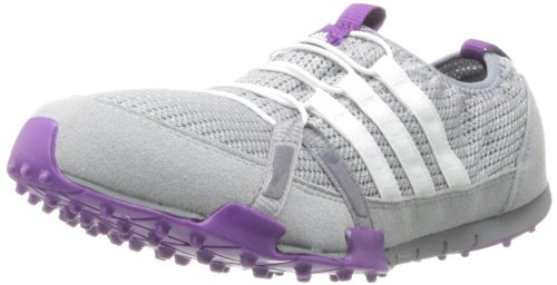 adidas Women's Climacool Ballerina Golf Shoe,Light Onix/White/Trible Purple,7 M US
