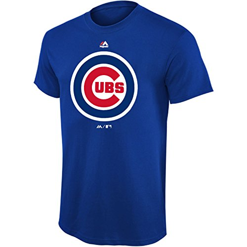Chicago Softball (MLB Youth 8-20 Team Color Performance Primary Logo T-Shirt (Medium 10/12, Chicago Cubs))