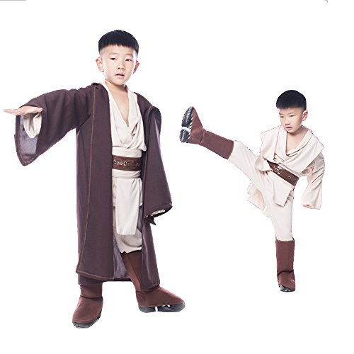 Outfit Jedi (GDreamer SW1 Star Wars Kids Jedi Robe Sky Walker Halloween Costume Cosplay Cos Clothes S-L)