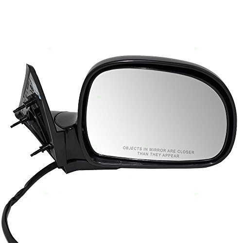 Passengers Power Side View Mirror Ready-to-Paint Replacement for Chevrolet GMC Oldsmobile Isuzu SUV Pickup Truck 8-19256-365-0 ()