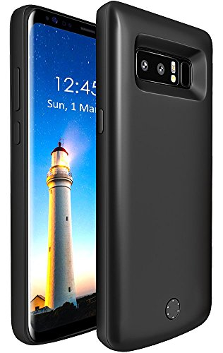 6500mAh Battery Case for Samsung Galaxy Note 8, Vproof Portable Charger Charging Case Rechargeable External Battery Protective Cover case for Galaxy Note8 (Black)