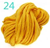 Yarn - Knitting Wool 32m Woolen Yarn Pure Super Bulky Chunky Diy Handmade Knitted Neckerchief Blanket - Super Yarn Bulky Knitting Blanket Knit Chunky Yarn Wool Fashion Bamboo Ribbon Tricoter Cott