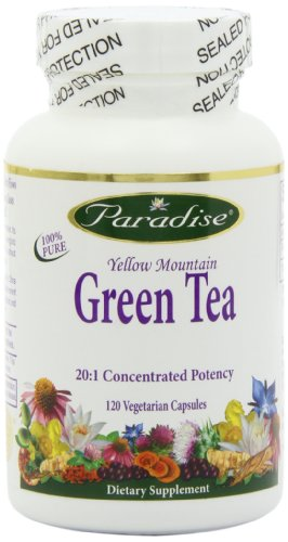 Paradise Herbs, Yellow Mountain, 20:1 Vegetarian Capsules, Green Tea, 120 Count Review