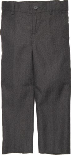 ARMANI MARTILLO Boys Flat Front Slim Fit Mock Wool Dress Pants - 604PS - Charcoal, 3 Slim