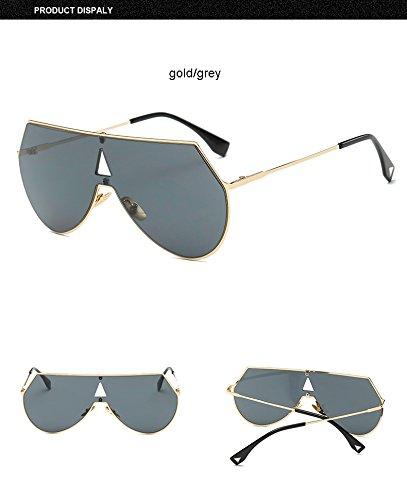 de y para Gold dorado de Gold hombre gafas Cool Steampunk sol Gray Fashion Gafas sol Clear Aprigy color plateado wFzRqOn