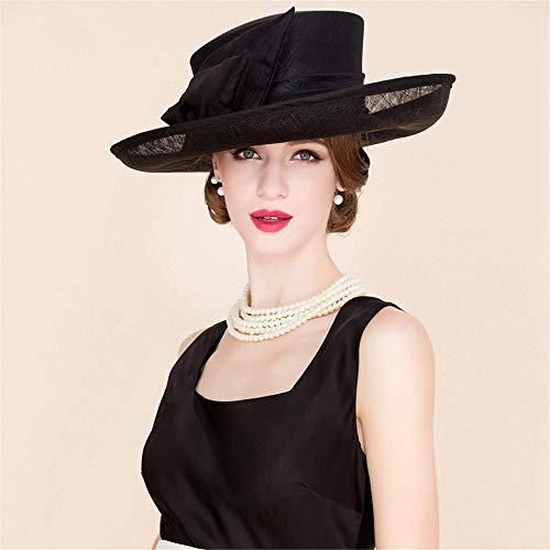 Summer Sun Hat Beach Hat Wedding hat,Large Eaves Hemp hat, Handmade Linen Banquet hat, Beach Shade hat,A